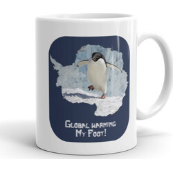 11oz Global Warming My Foot!  Mug