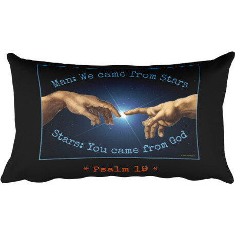 Man and Stars Psalm 19 Rectangular Pillow