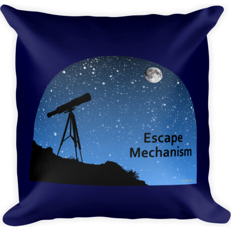 Escape Mechanism  Square Pillow