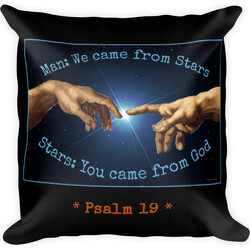 Man and Stars Psalm 19 Square Pillow