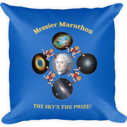 Messier Marathon The Sky's The Prize  Square Pillow