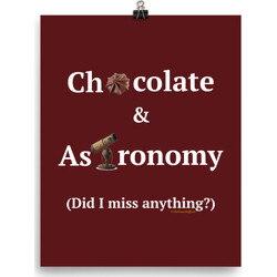 Chocolate and Astronomy poster