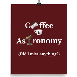 Coffee and Astronomy poster