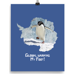 Global Warming My Foot!  poster