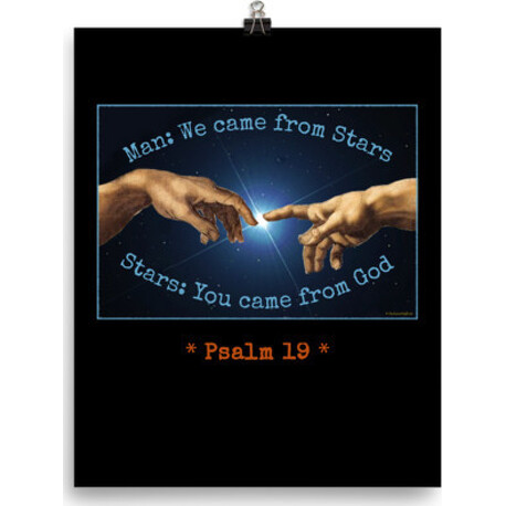Man and Stars Psalm 19 Poster