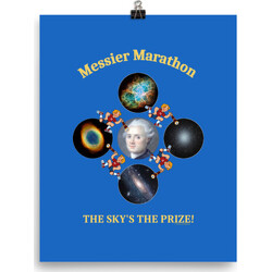 Messier Marathon The Sky's The Prize  poster