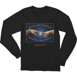 Man and Stars Psalm 19 Long Sleeve T-shirt