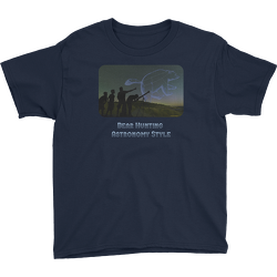 Bear Hunting Astronomy Style Youth T-shirt