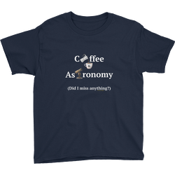 Coffee and Astronomy Youth T-shirt