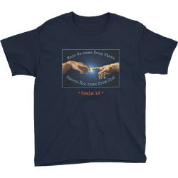 Man and Stars Psalm 19 Youth T-shirt
