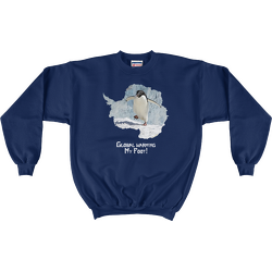 Navy Global Warming My Foot! Sweatshirt