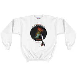 White When I look at the heavens ... Higher Power Psalm 8 Sweatshirt