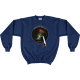 Navy When I look at the heavens ... Higher Power Psalm 8 Sweatshirt