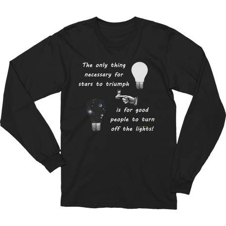 Black Stars Triumph Turn Off the Lights Long Sleeve T-shirt