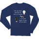 Navy Stars Triumph Turn Off the Lights Long Sleeve T-shirt