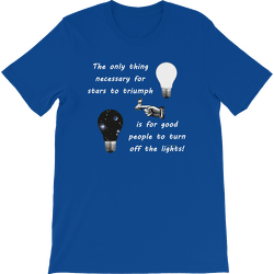 True Royal Stars Triumph Turn Off the Lights Short Sleeve T-shirt
