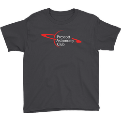 Black Prescott Astronomy Club Youth T-shirt