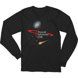 Black PAC Logo with Galaxy and Meteor Long Sleeve T-shirt
