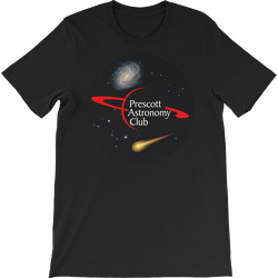 Black PAC Logo with Galaxy and Meteor Short Sleeve T-shirt