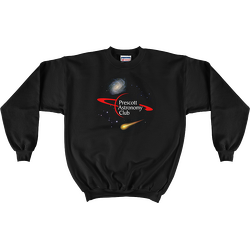 Black PAC Logo with Galaxy and Meteor Sweatshirt