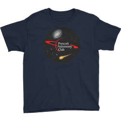 Navy PAC Logo with Galaxy and Meteor Youth T-shirt