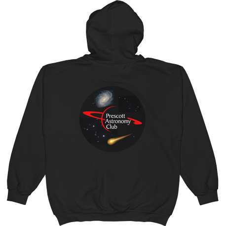 Black PAC Logo with Galaxy and Meteor Hoodie