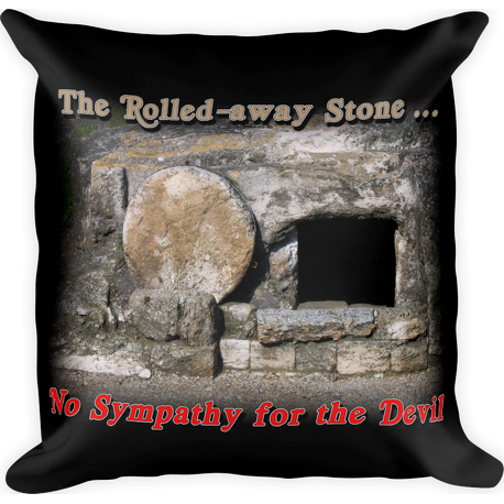 Rolled-away Stone Square Pillow