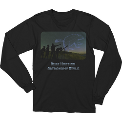Black Bear Hunting Astronomy Style Long Sleeve T-shirt