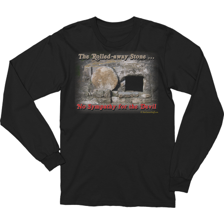 Black The Rolled-away Stone Long Sleeve T-shirt