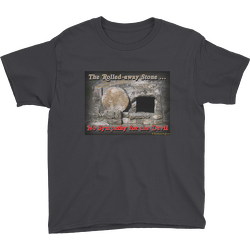 Black The Rolled-away Stone Youth T-shirt