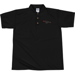 PAC Embroidered Polo Shirt - Black