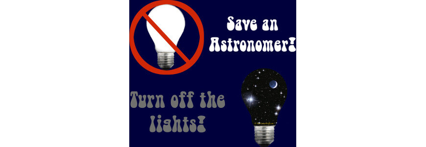 Save an Astronomer!  Turn off the lights!